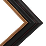 "Millbrook Collection - Naples 1.5"" Black/ Gold Frame 8X10 w/ Glass"