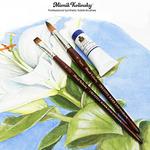 Mimik Kolinsky Synthetic Sable Short Handle Brushes and Sets