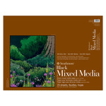 "Strathmore 400 Series 18X24"" Black Mixed Media Pad 184lb (15-Sheet)"