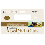 """Strathmore Mixed Media Greeting Cards + Envelopes Pack of 10 3.7x8.5"""""""