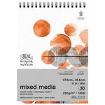 Winsor & Newton Mixed Media 135 lb Spiral 11x14 Pad 30-Sheets