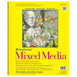 """Strathmore Mixed Media 300 Series Spiral Bound Pad (90 lb., 40 Sheets Vellum) 11x14"""""""