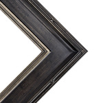 Museum Plein Aire Antique Black W/ Silver Liner Frame 16X20 3.5 In Wide