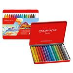 Caran D'ache Neocolor I Crayons Plastic Case Set of 15 - Assorted Colors