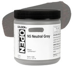 Golden Open Acrylic 8 oz Jar - Neutral Grey 5