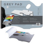 "New Wave 11x16"" Neutral Grey Ergonomic Handheld Disposable Paper Palette Pad - Neutral Grey"