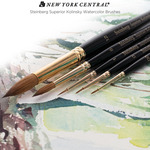 New York Central Steinberg Superior Kolinsky Watercolor Brushes