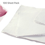 Nujabi 100pack Handmade Watercolor Paper 200lb Soft Cold Press 22x30in