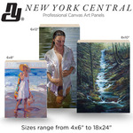 New York Central Professional Canvas Art Wood Panels