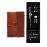 Opus 4 x 6 in Slide Closure Journal Honey & Dip Glass Pen Set