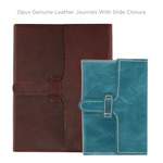 Opus Genuine Leather Journals with Slide Closure