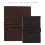Opus Genuine Leather Journals with Wrap
