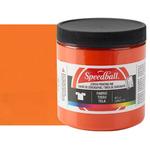 Speedball Fabric Screen Printing Ink 8 oz Jar - Orange
