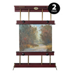 2-Pack Rue Mahogany & Brass Wall Easel Small 32 Inches Wide
