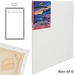 "Paramount 11/16"" Deep Cotton Stretched Canvas Box of Six 20x20"""
