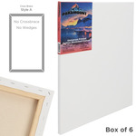"""Paramount 11/16"""" Deep Cotton Stretched Canvas Box of Six 4x6"""""""