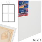 """Paramount 11/16"""" Deep Cotton Stretched Canvas Box of Six 30x30"""""""