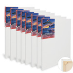 "Paramount 11/16"" Professional Cotton Stretched Canvas Bulk Packs"