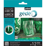 Pebeo Gedeo Mirror Effect Leaf 12 Sheet Pack - Green