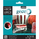 Pebeo Gedeo Mirror Effect Leaf 12 Sheet Pack - Red