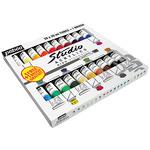 Pebeo Studio High Viscosity Acrylics Set of 20ml 20 Colors with Brush