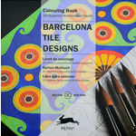 Pepin Artists' Square Coloring Cards - Barcelona Tile Designs