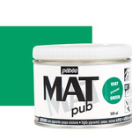 Pebeo Acrylic Mat Pub 500ml - Permanent Green