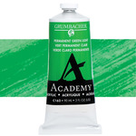 Grumbacher Academy Acrylic 90 ml Tube - Permanent Green Light