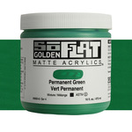 Golden SoFlat Matte Acrylic 16 oz Permanent Green