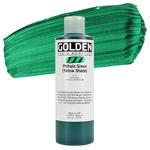 Golden Fluid Acrylic 8 8 oz Bottle - Phthalo Green (Yellow Shade)