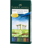 Pitt Brush Pens Wallet Set of 6 - Landscape Colors