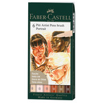 Pitt Brush Pens Wallet Set of 6 - Portrait