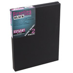 "Practica Black 11x14"" Stretched Canvas Pack of 2"