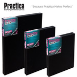 Practica Economy Black Stretched Canvas