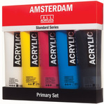 Amsterdam Standard Acrylics 120ml Primary Colors Set Of 5 Tubes