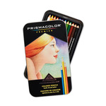Prismacolor Premier Colored Pencils Tin Set of 12 Basic Colors