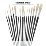 Creative Mark Pro Stroke Premium White Bristle Brush Sets