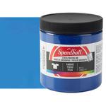 Speedball Fabric Screen Printing Ink 8 oz Jar - Process Cyan