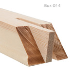 "ProFile 2.5"" Extra Deep Box of 4 Stretcher Bars 80"" (4 Slots)"