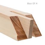 "ProFile 2.5"" Extra Deep Box of 4 Stretcher Bars 42"" (2 Slots)"