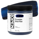 GOLDEN Open Acrylic Paints Prussian Blue Hue 8 oz