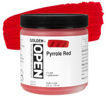 Golden Open Acrylic 8 oz Jar - Pyrrole Red