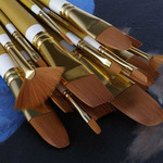 Creative Mark Qualita Golden Taklon Value Brush Sets
