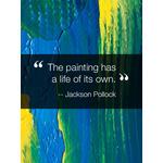 Inspirational Quote Art eGift Card - Jackson Pollock eGift Card
