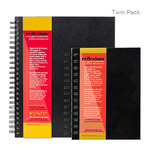 Reflexions Spiral Sketch Book Twin Pack 5.5X8.5 + 8.5X11