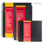Reflexions Spiral Sketch Book Triple Pack 5X11 + 6X6 + 8.5X11