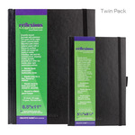Reflexions Hardbound Sketch Book Twin Pack 5.5X8.5 + 8.5X11