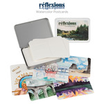 Reflexions Premier Watercolor Postcard Tin