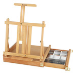 Table Easel & Sketch Box with Metal Lined Drawer- Renoir Oiled Beechwood Finish