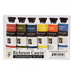 Richeson Casein Artist Colors Under Painting Assorted Colors 37 ml (Set of 6)